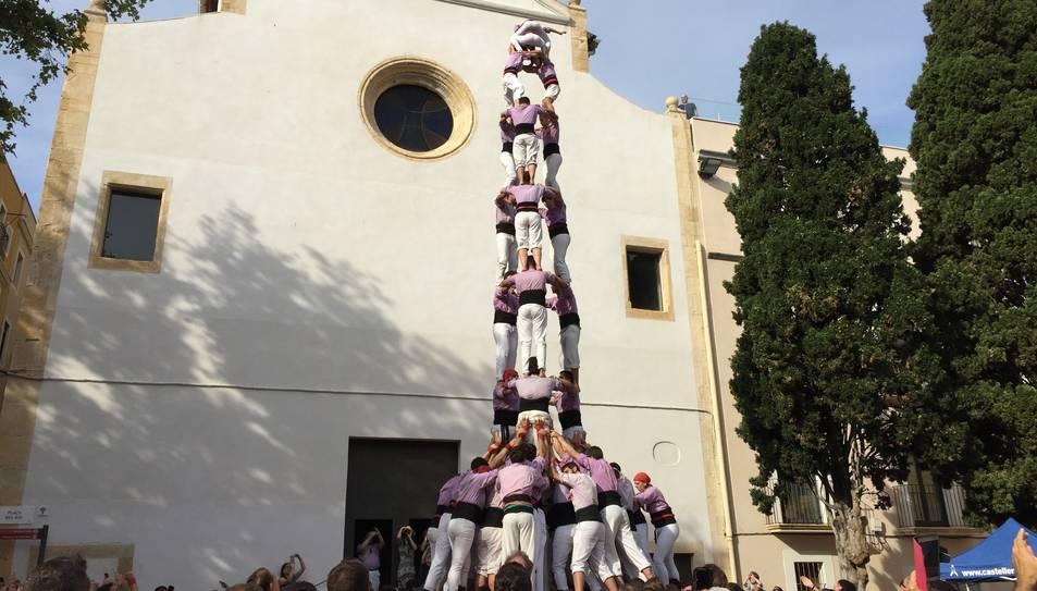 3de9f de la Colla Jove de Tarragona a la plaça del Rei