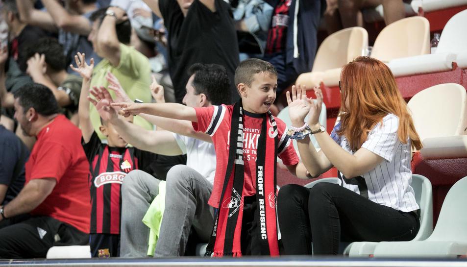 El CF Reus brinda a la afición una última victoria en el Estadi contra el Valladolid