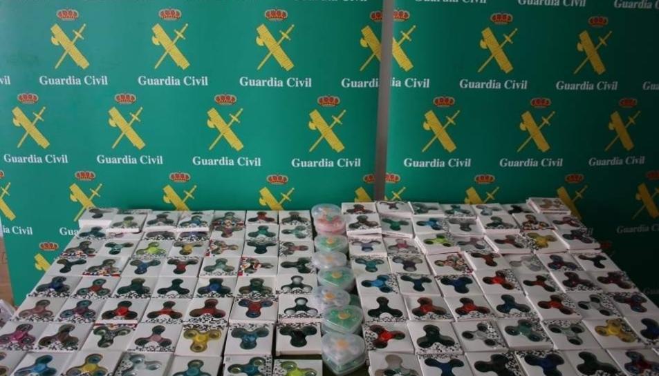 Imatge de part dels spinners confiscats per la Guàrdia Civil a Mallorca.