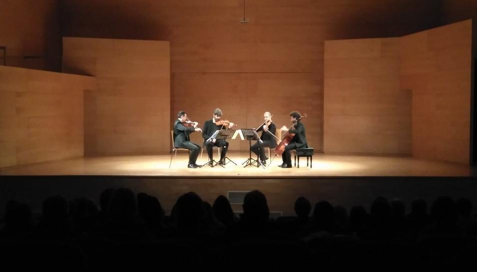 Imatge d'Alart Quartet, que oferirà un concert a l'Auditori Josep Carreras el 9 de juny.