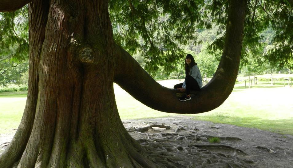 Imatge a un dels parcs de la capital dels que es va enamorar.