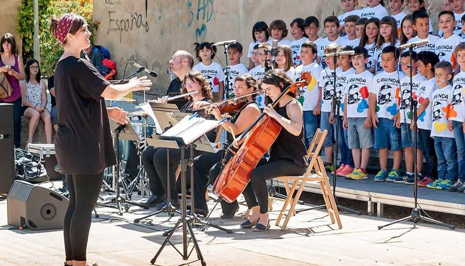 Imatge d'una de les darreres actuacions dels alumnes de l'Escola de Música del Morell.