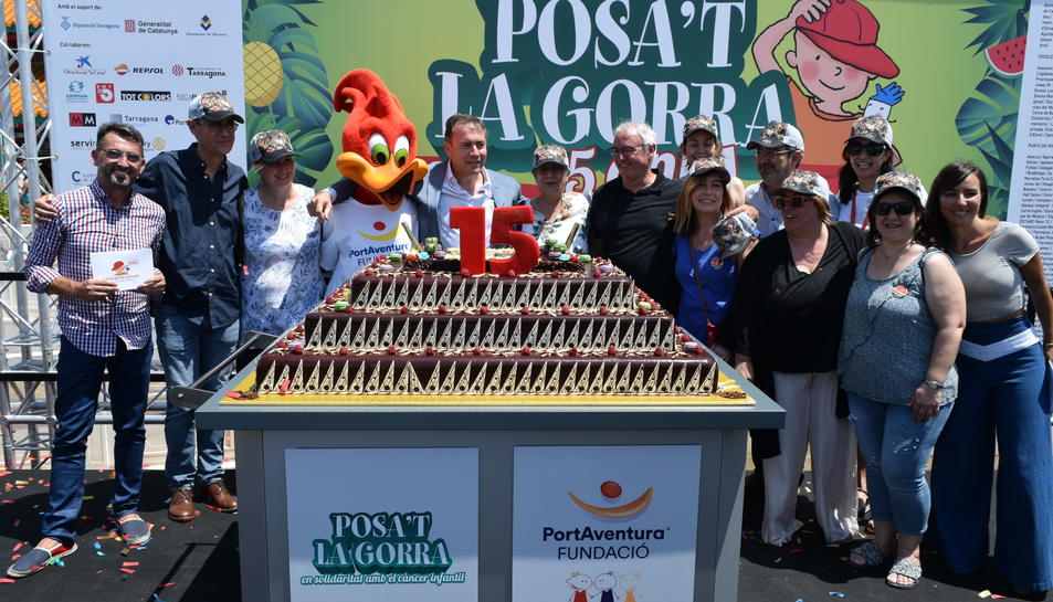 Quinzena edició del 'Posa't la gorra' al Port Aventura, campanya per recollir fons per a la lluita contra el càncer infantil.
