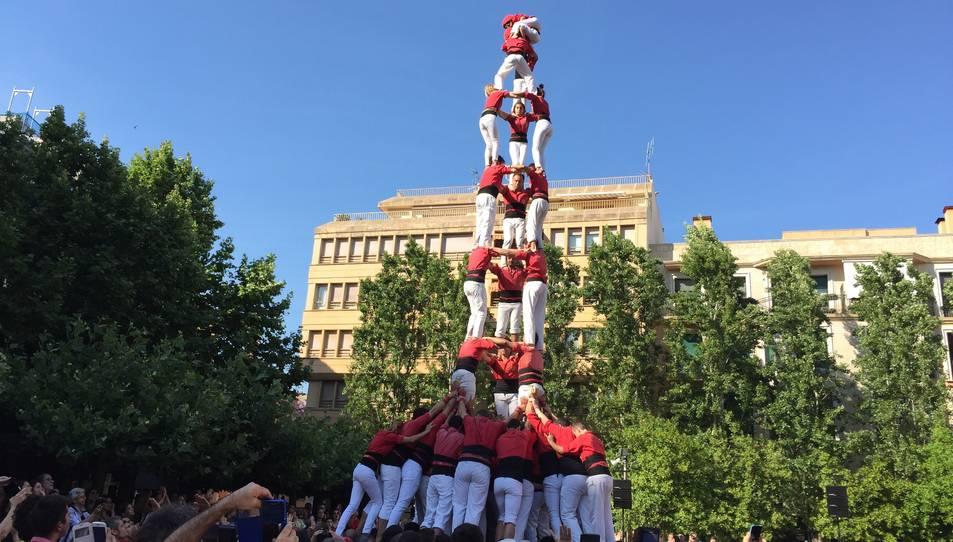 3de9f carregat de la Colla Joves de Valls a la Diada del Pati.