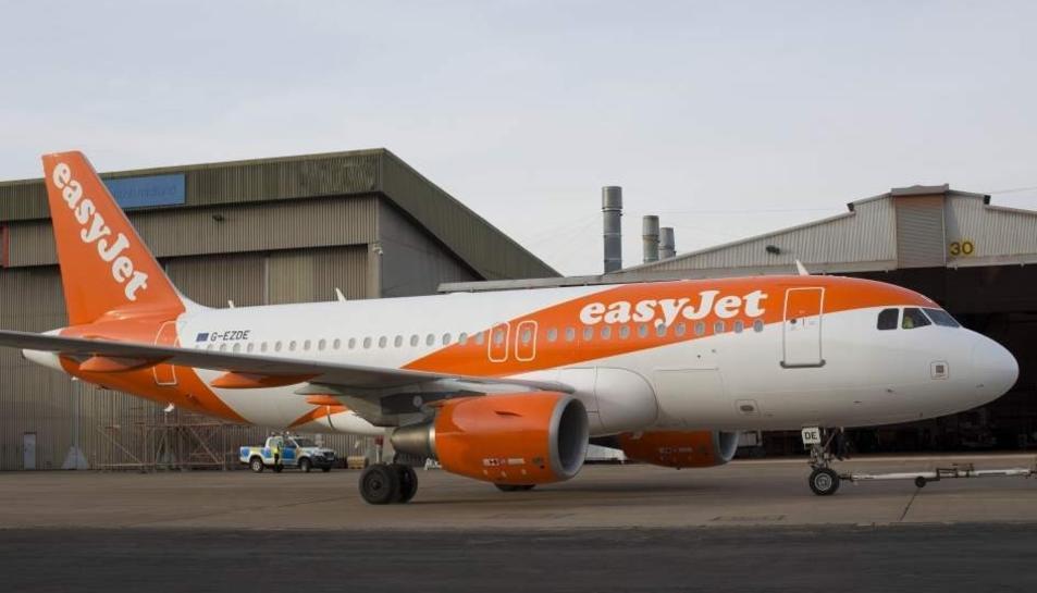 Imatge d'arxiu d'un avió de la companyia EasyJet.