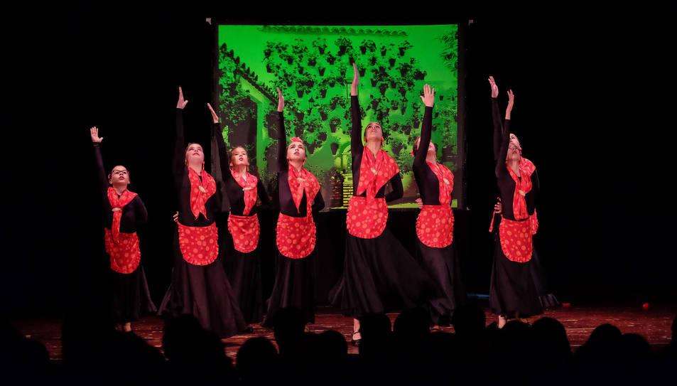 El festival de flamenc i dansa, organitzat per l'Associació Familiar Més 30.