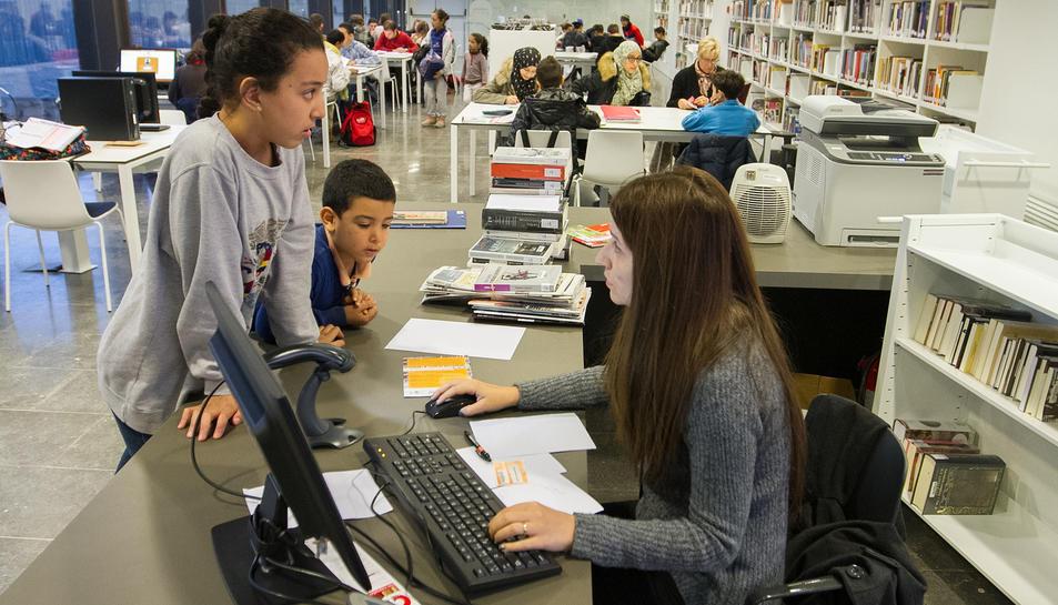 Una imatge d'arxiu de la Biblioteca Pere Anguera.