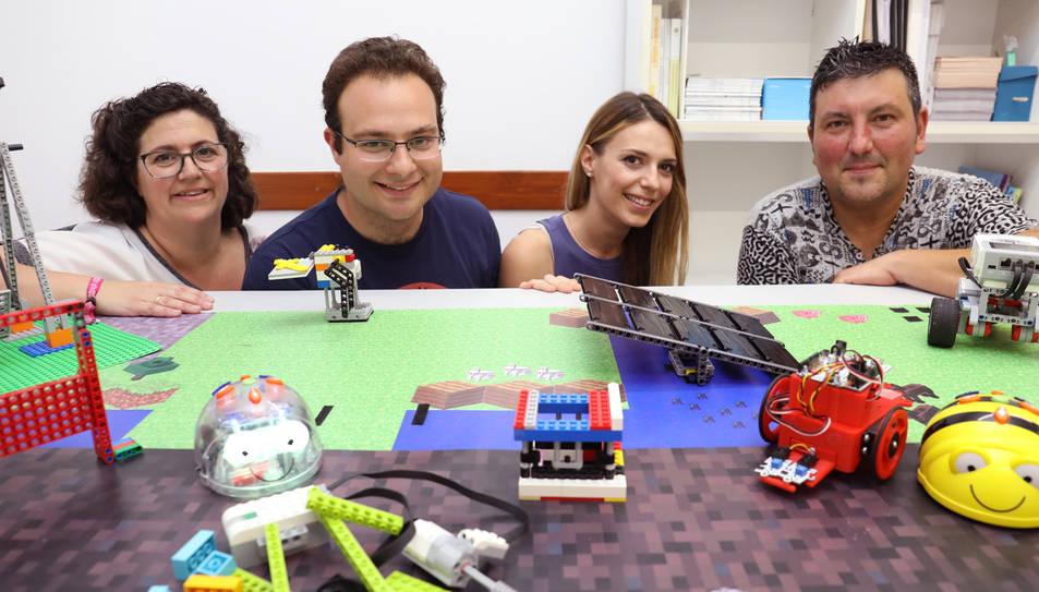 Judith Boquera, Ricardo Bonache, Tania Valderrama i Jordi Rincón a la seu de Dynamind.
