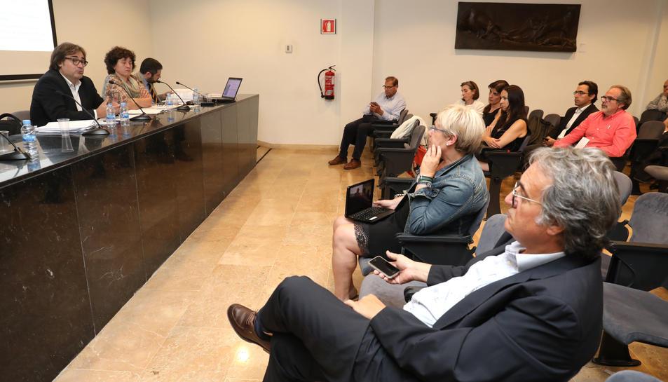 Prop de cinquanta professionals van participar en la reunió celebrada en el Museu d'Art Modern.
