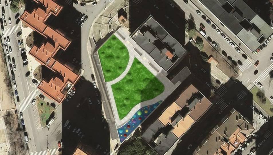 La remodelació, a més, vol trencar amb la geometria rígida existent de la plaça.
