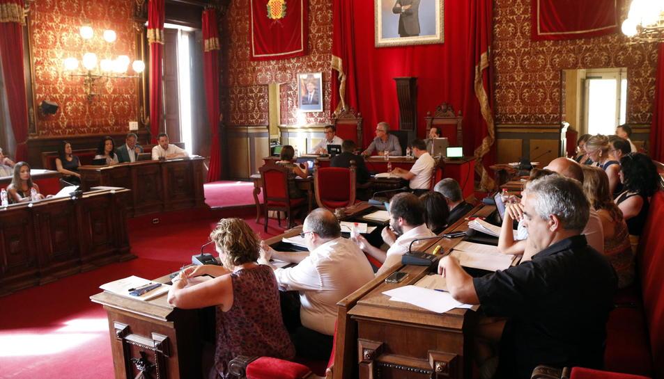 Pla general del ple de l'Ajuntament de Tarragona del 16 de juny del 2017
