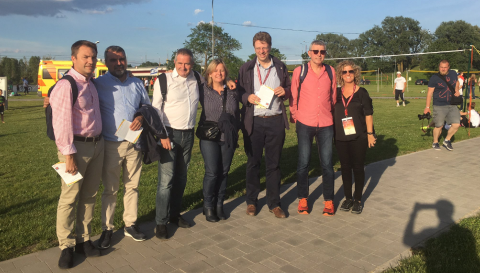 La delegació de Tortosa als jocs de Riga.