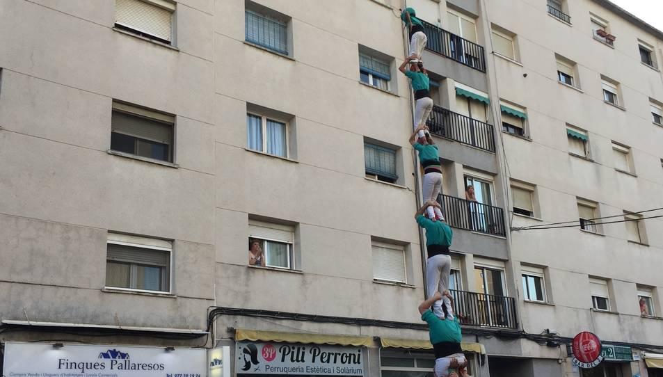 Pilar de 6 dels Castellers de Sant Pere i Sant Pau