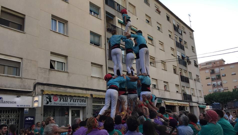 4de6 amb agulla dels Xiquets de Vila-seca a Sant Pere i Sant Pau