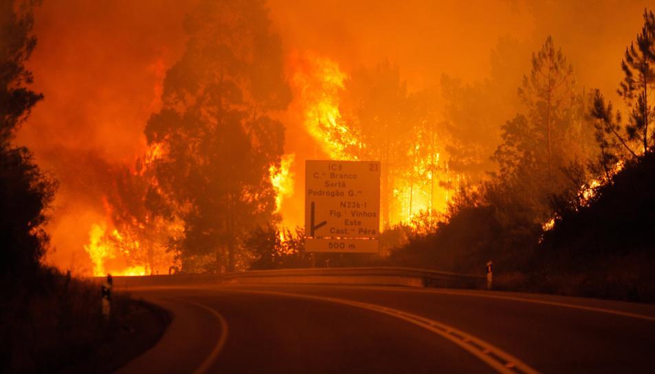 Molts cotxes es van veure sorpresos per les flames quan circulaven per la cerretera.