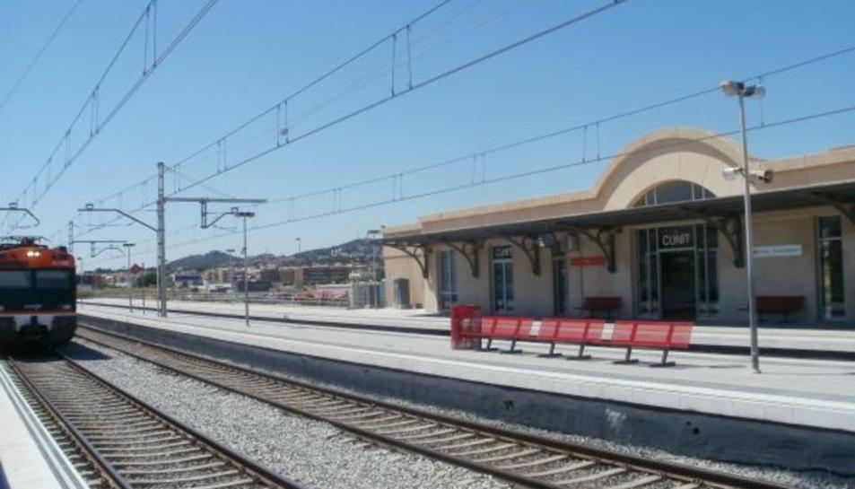 L'estació de trens de Cunit.