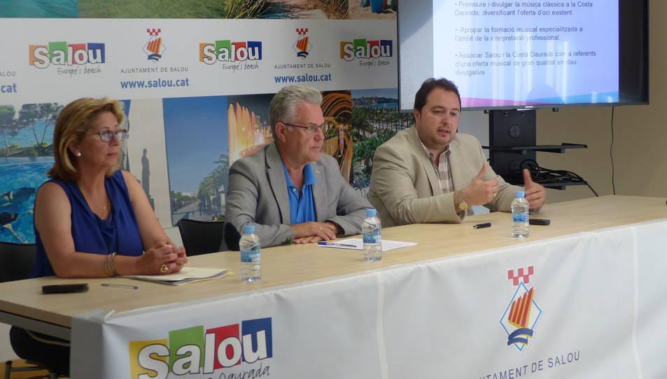 Un moment de la roda de premsa de la presentació del festival, que ha tingut lloc a Salou aquest dilluns.