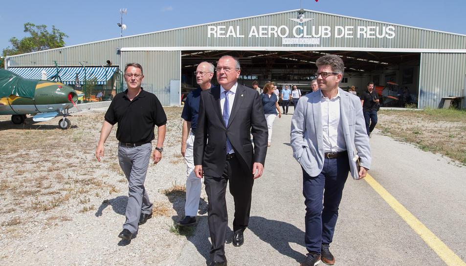La visita que han fet avui al Reial Aeroclub de Reus.