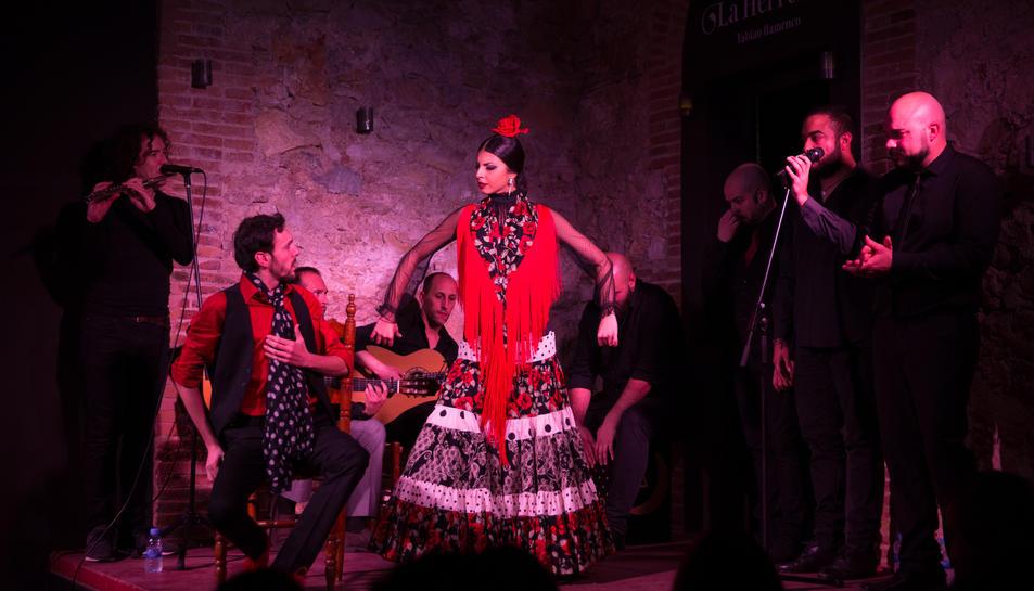 El Tablao la Herreria, durant una de les actuacions que que s'han fet en aquest local de Jaume I.