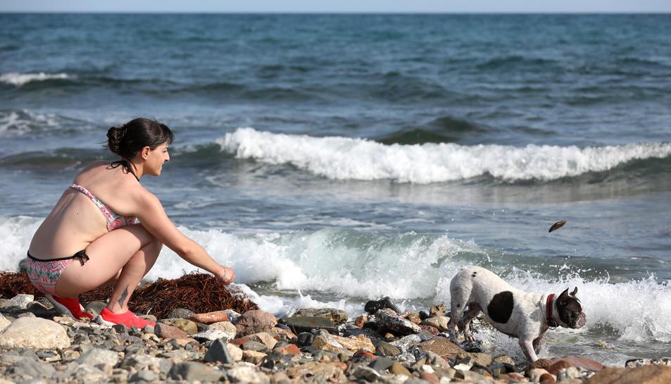 Imatge de la platja de la riera d'Alforja de Cambrils.
