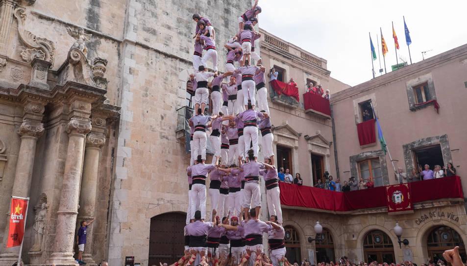 Imatge d'arxiu del darrer 9de8 de la Colla Jove de Tarragona la passada temporada per Santa Teresa al Vendrell.