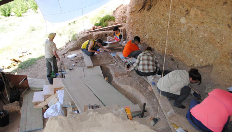 Excavació al Molí del Salt aquesta primavera.