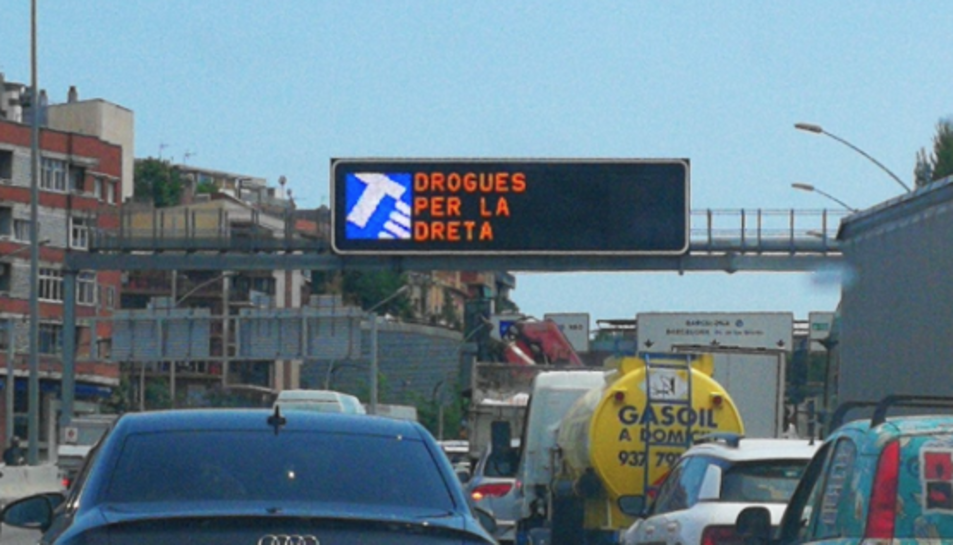 Imatge del cartell, dimarts passat.