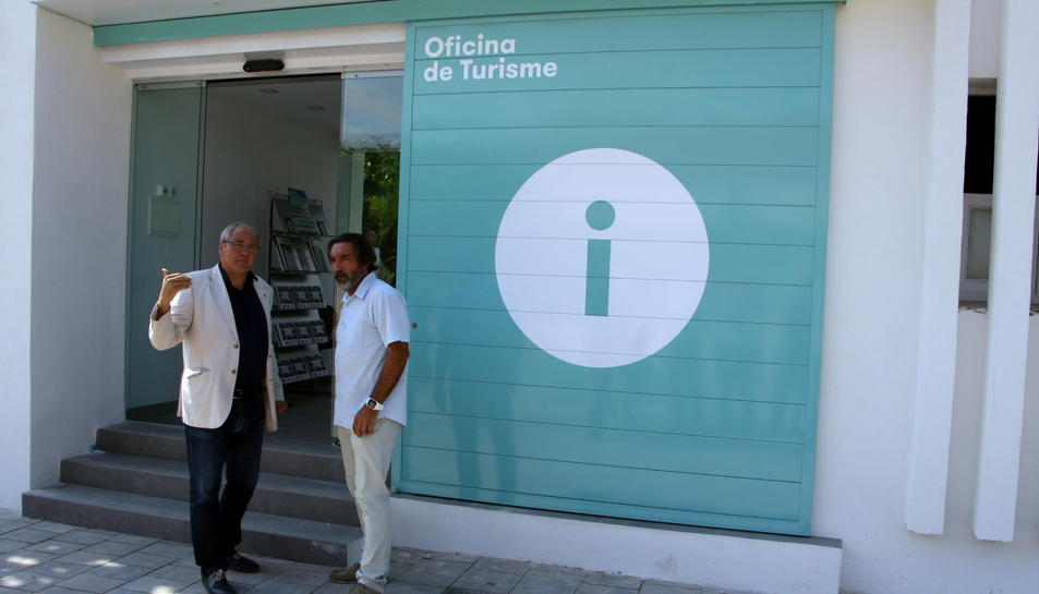 Imatge de la renovada Oficina de Turisme del Barri Marítim d'Altafulla, inaugurada avui.