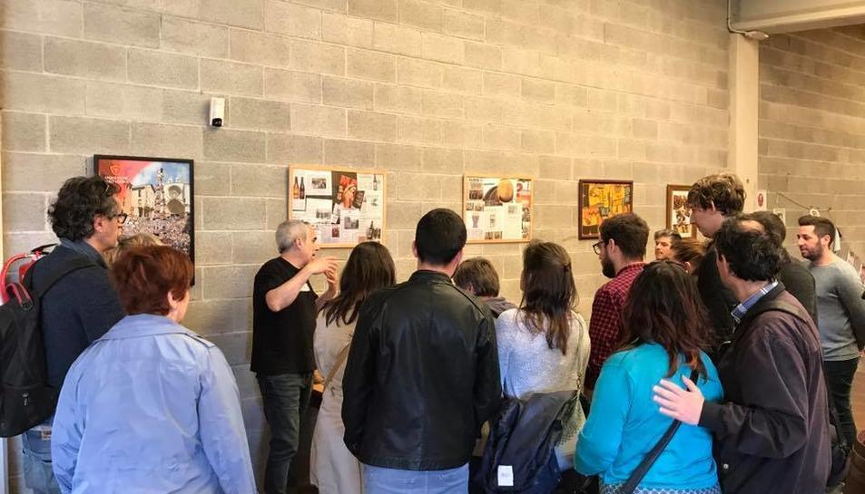 Imatge de la visita a la fàbrica