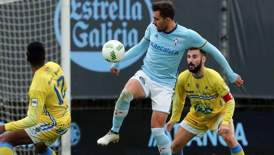 Borja Iglesias, amb el Celta B.
