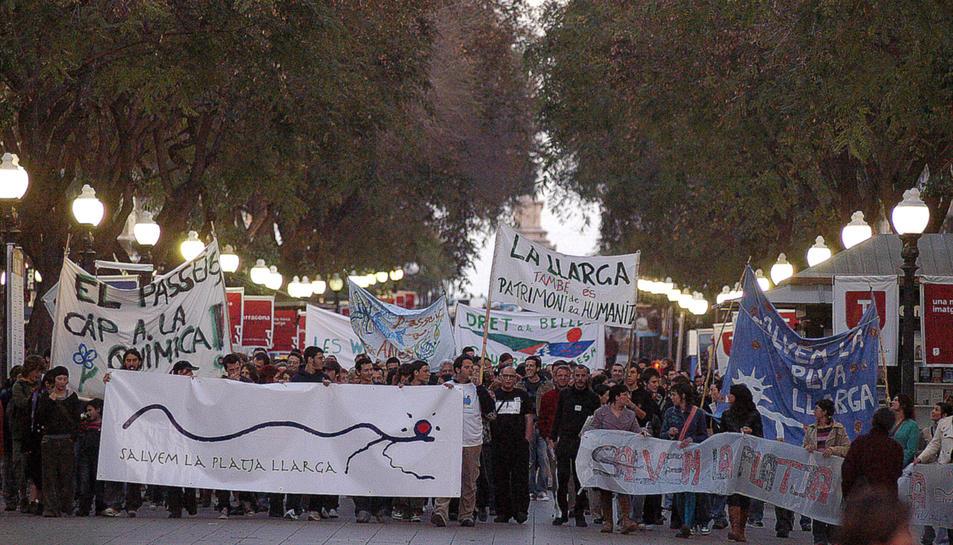 Imatge d'arxiu d'una manifestació de la plataforma realitzada l'any 2007.