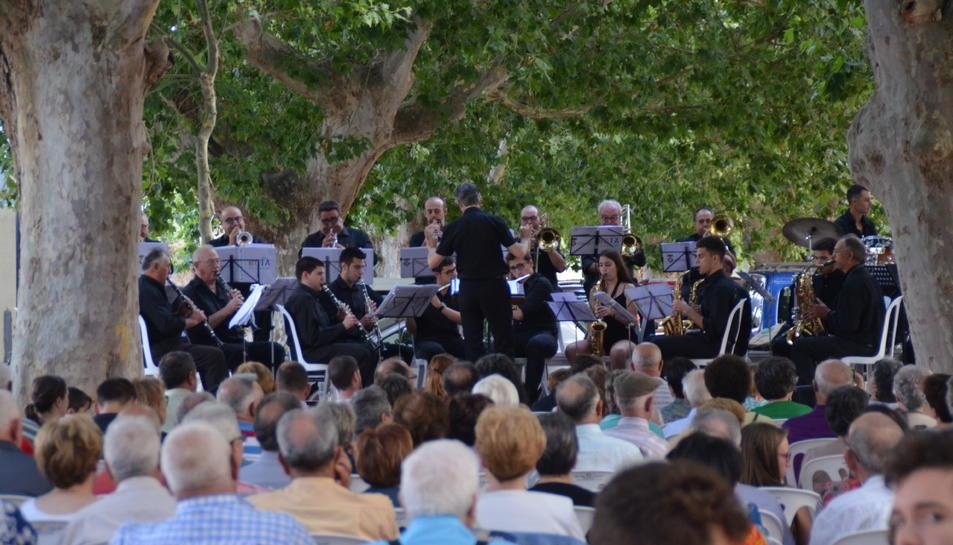 Imatge del concert de la Banda Comarcal Terra Alta el passat 21 de juny.
