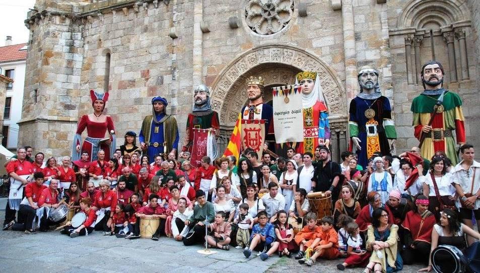 Els Amics dels Gegants de Montblanc viatgen a Zamora en motiu de les Fiestas de San Pedro
