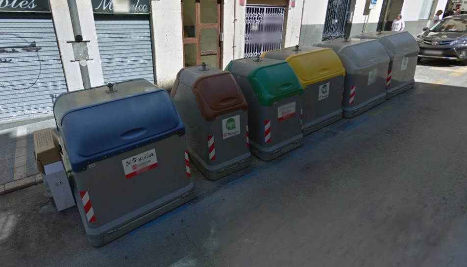 S'ha cremat un contenidor de rebuig, un d'envasos i un de matèria orgànica del carrer Unió.