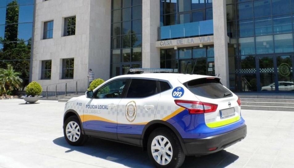 Imatge d'arxiu d'un vehicle de la Policia Local de Cambrils.