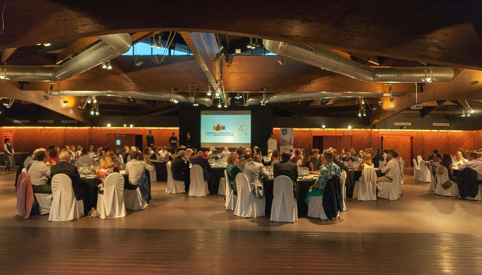 Imatge del sopar de l'Associació de Càmpings, que es va celebrar aquest dimarts a la Boella.