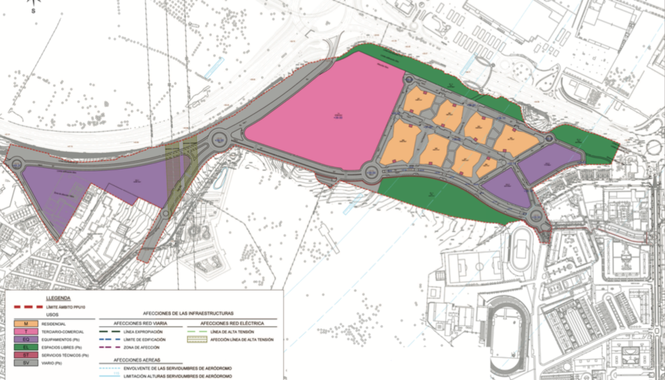 El plànol de l'indret on s'urbanitzarà.