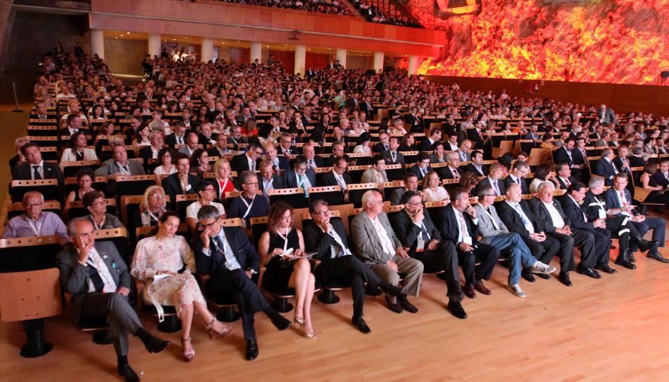 Aspecte que oferia el Palau de Congressos de Tarragona