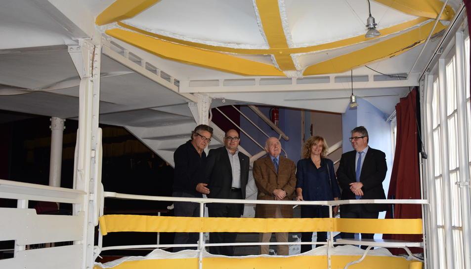 D'esquerra a dreta, Josep Llinàs, Josep Maria Prats, Josep Maria Jujol, Àngels Solé i Jordi Agràs.