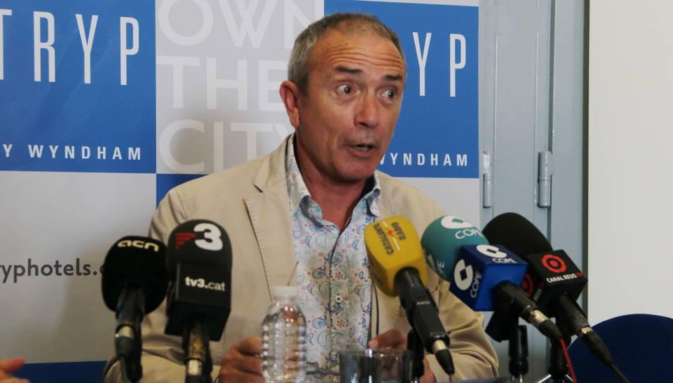 El director de la promotora Concert Studio, Martín Pérez, en roda de premsa divendres passat.