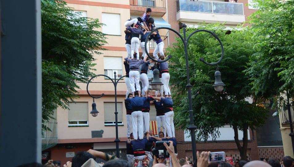 5de7 dels Xiquets del Serrallo a la diada de Sant Pere.