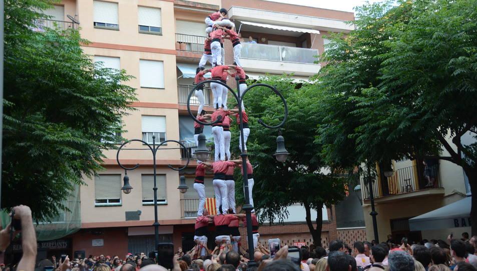 5de8 de la Colla Vella Xiquets de Valls a la diada de Sant Pere.