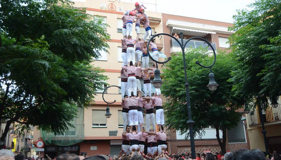 5de8 dels Xiquets de Tarragona a la diada de Sant Pere.