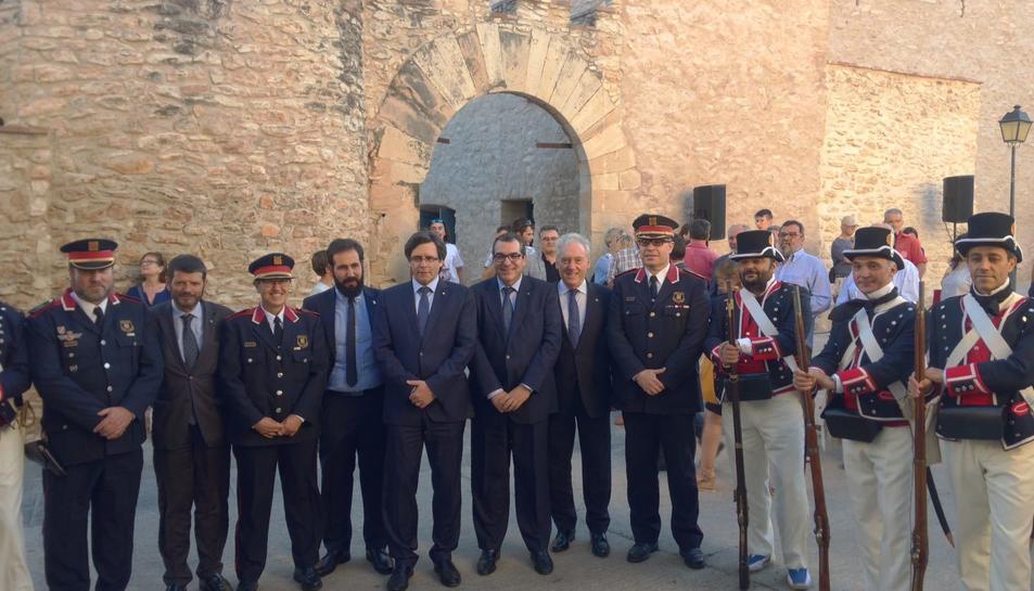El president de la Generalitat va ser l'encarregat de fer oficial la inauguració de la rehabilitació.
