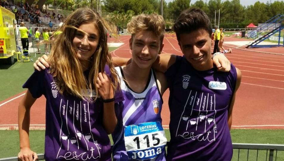 Els esportistes del CA Tarragona, orgullosos.