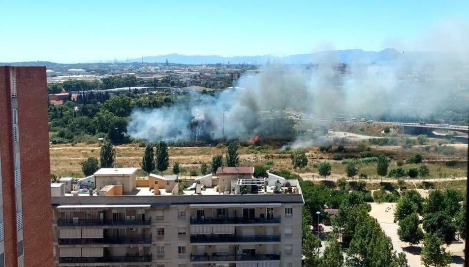 El foc ha afectat una zona ubicada entre la T-11 i la N-420.