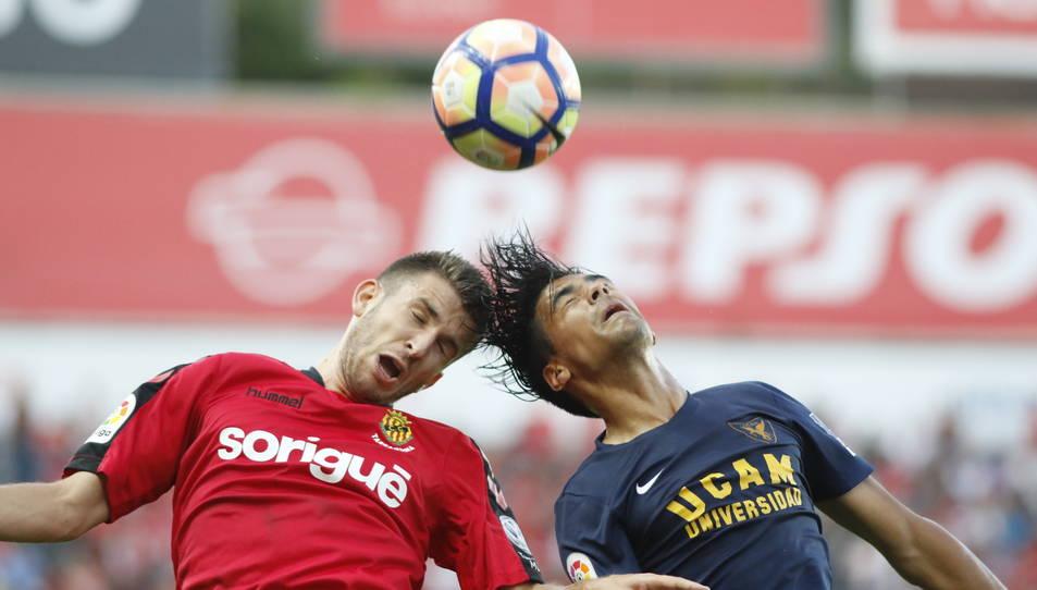 Gerard Valentín és un dels futbolistes més decisius del Nàstic, però podria deixar el club aquest estiu.