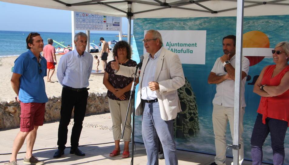 Imatge de l'acte de presentació dels nous biòtops instal·lats al litoral tarragoní.
