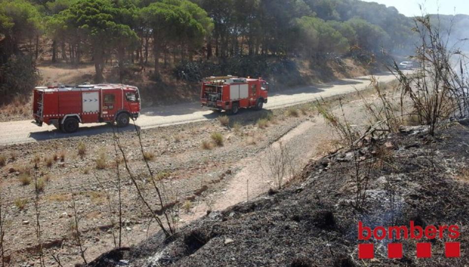Les dotacions que han treballat en l'extinció de l'incendi de Cambrils.