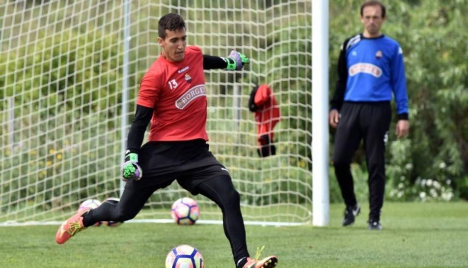 Edgar Badia, entrenant.